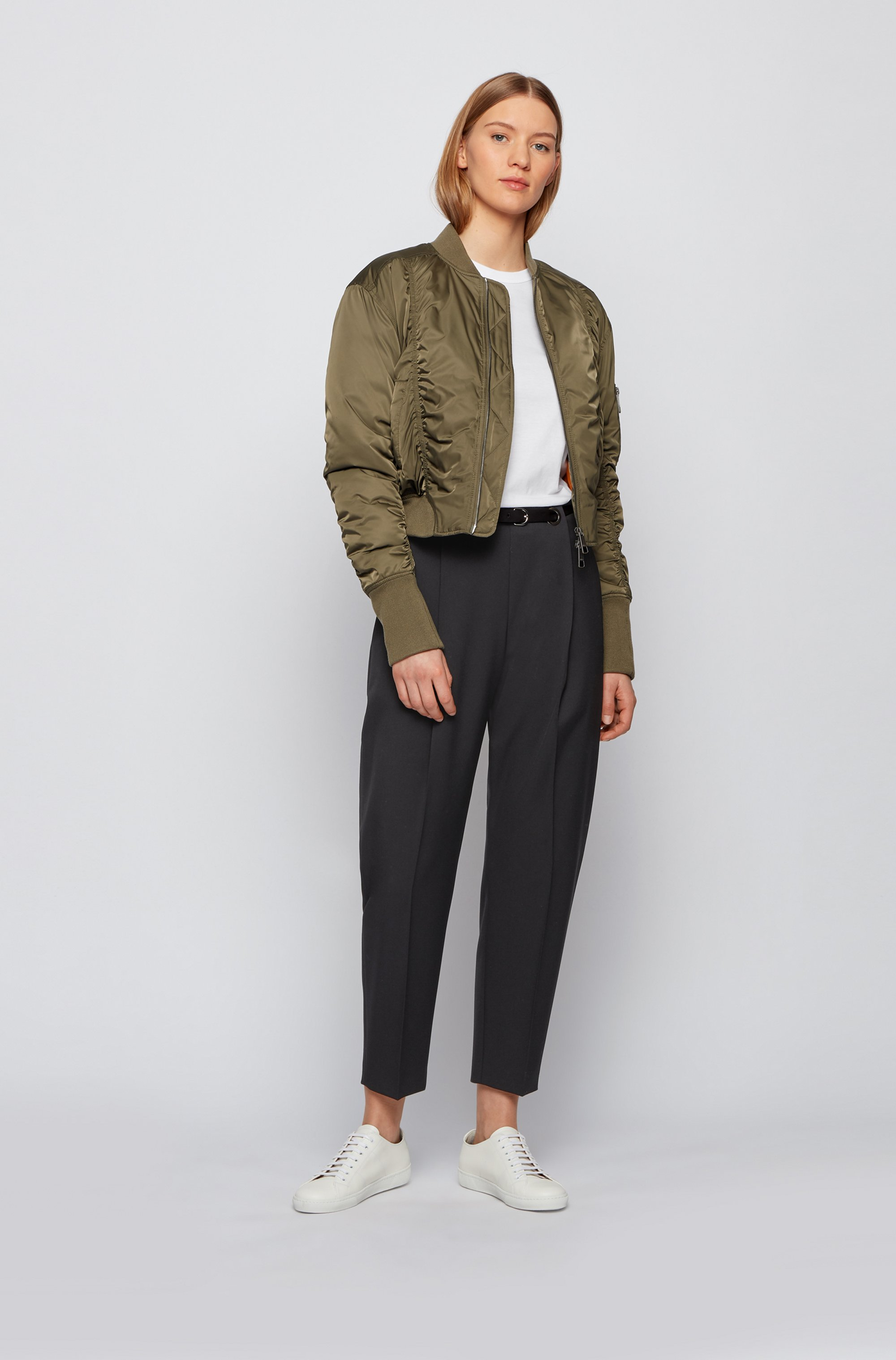 Relaxed-fit trousers in Italian stretch-wool gabardine