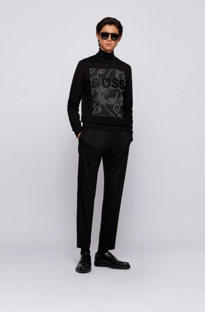 Logo sweatshirt in French terry with ox-head artwork