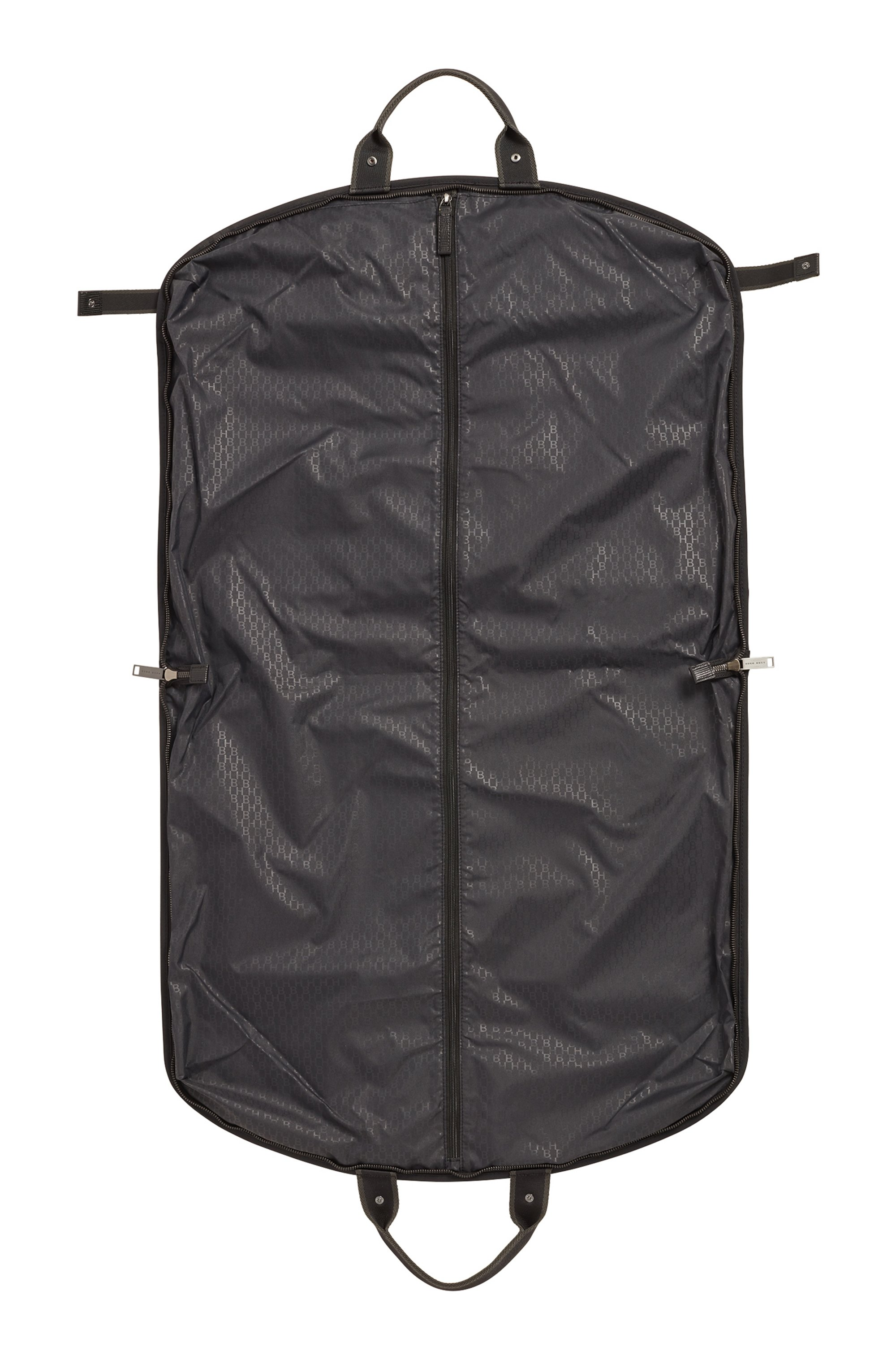 Garment bag in certified recycled nylon