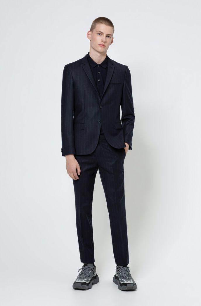 Extra-slim-fit pinstripe jacket in stretch virgin wool