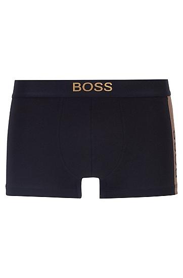 金属感徽标装饰弹力面料短裤礼盒装,  001_黑色
