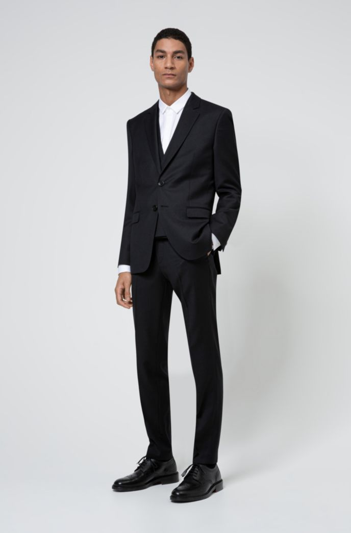 Extra-slim-fit evening shirt in structured cotton