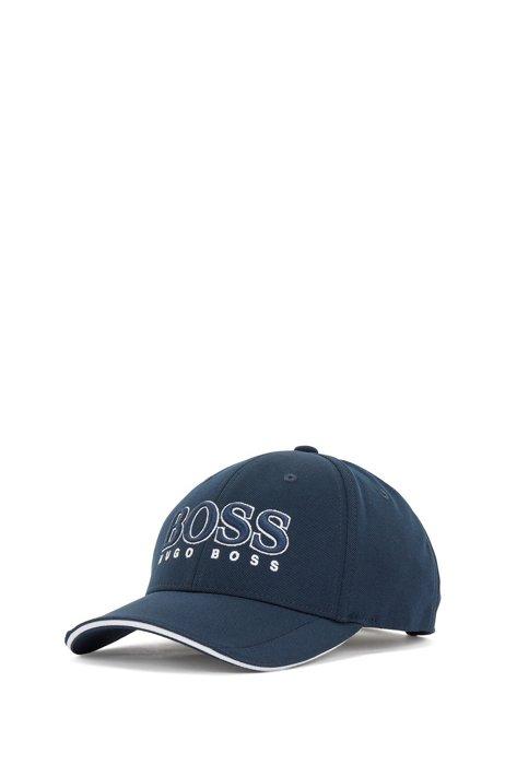 Cap aus Mesh-Piqué mit 3D-Logo, Dunkelblau