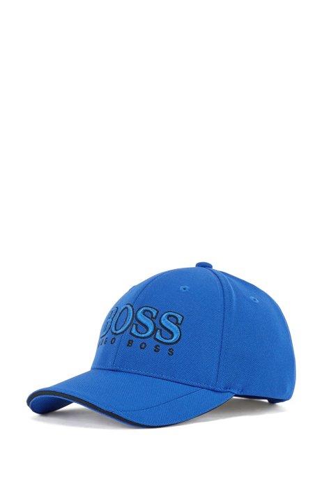 3D-logo cap in mesh piqué, Blue