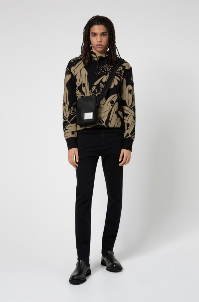Hooded sweatshirt in French terry with new-season print