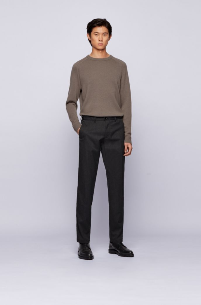 Regular-fit chinos in two-tone stretch twill