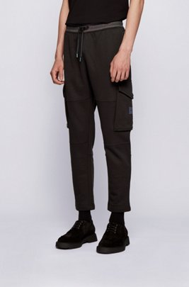 Pantalon de survêtement en molleton à finitions irisées, Noir
