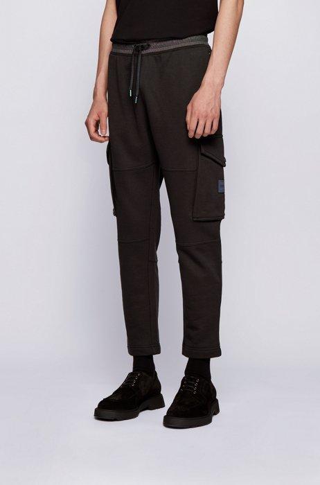 Pantalon de survêtement en molleton à finitions irisées, Noir
