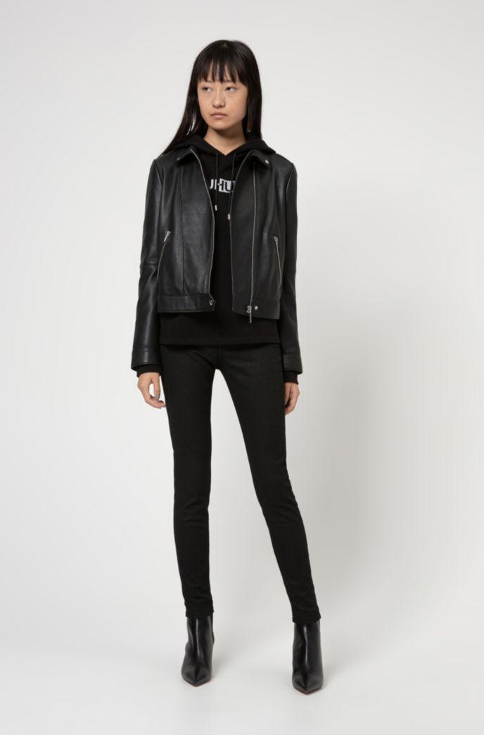 CHARLIE skinny-fit jeans in glitter-effect black stretch denim
