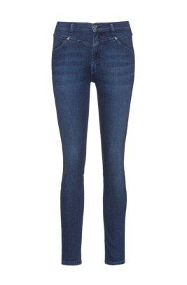 LOU skinny-fit jeans in mid-blue stretch denim, Blue