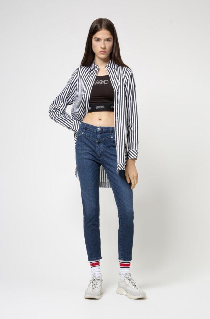 LOU skinny-fit jeans in mid-blue stretch denim