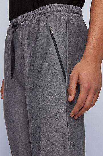 反光元素常规版型混色慢跑裤,  031_中灰色