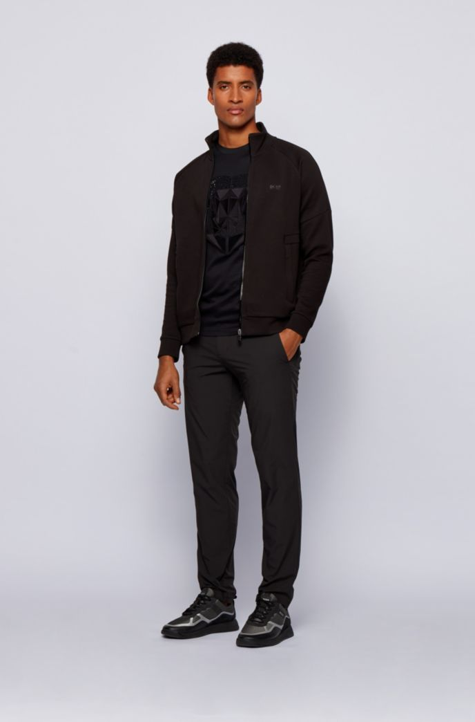 Mercerised-cotton slim-fit T-shirt with ox-head artwork