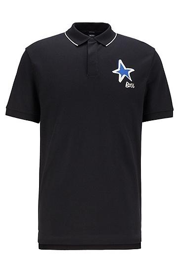 JUSTIN TEODORO系列星形Polo 衫,  001_黑色