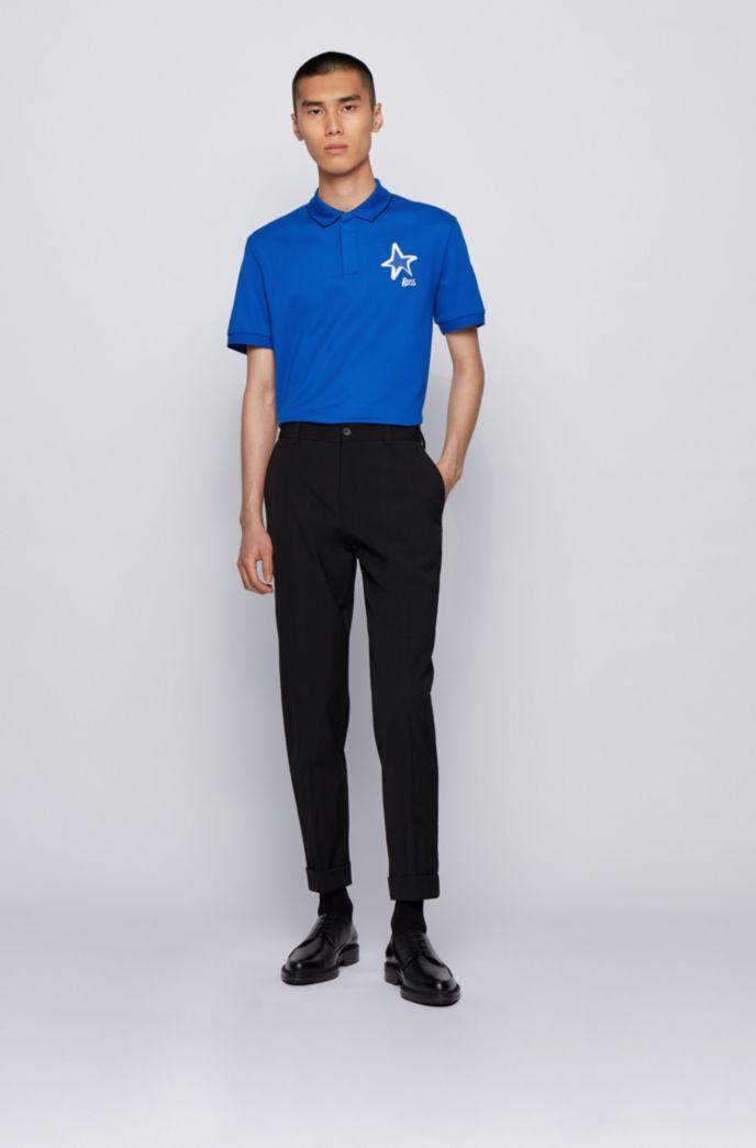 Poloshirt aus merzerisierter Baumwolle mit Stern- und Logo-Details