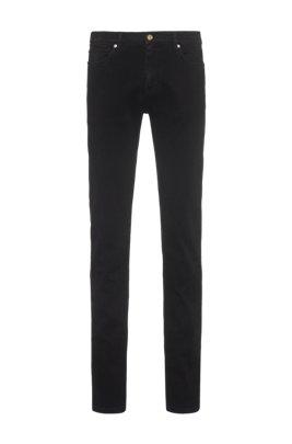Slim-fit jeans in super-soft black stretch denim, Black