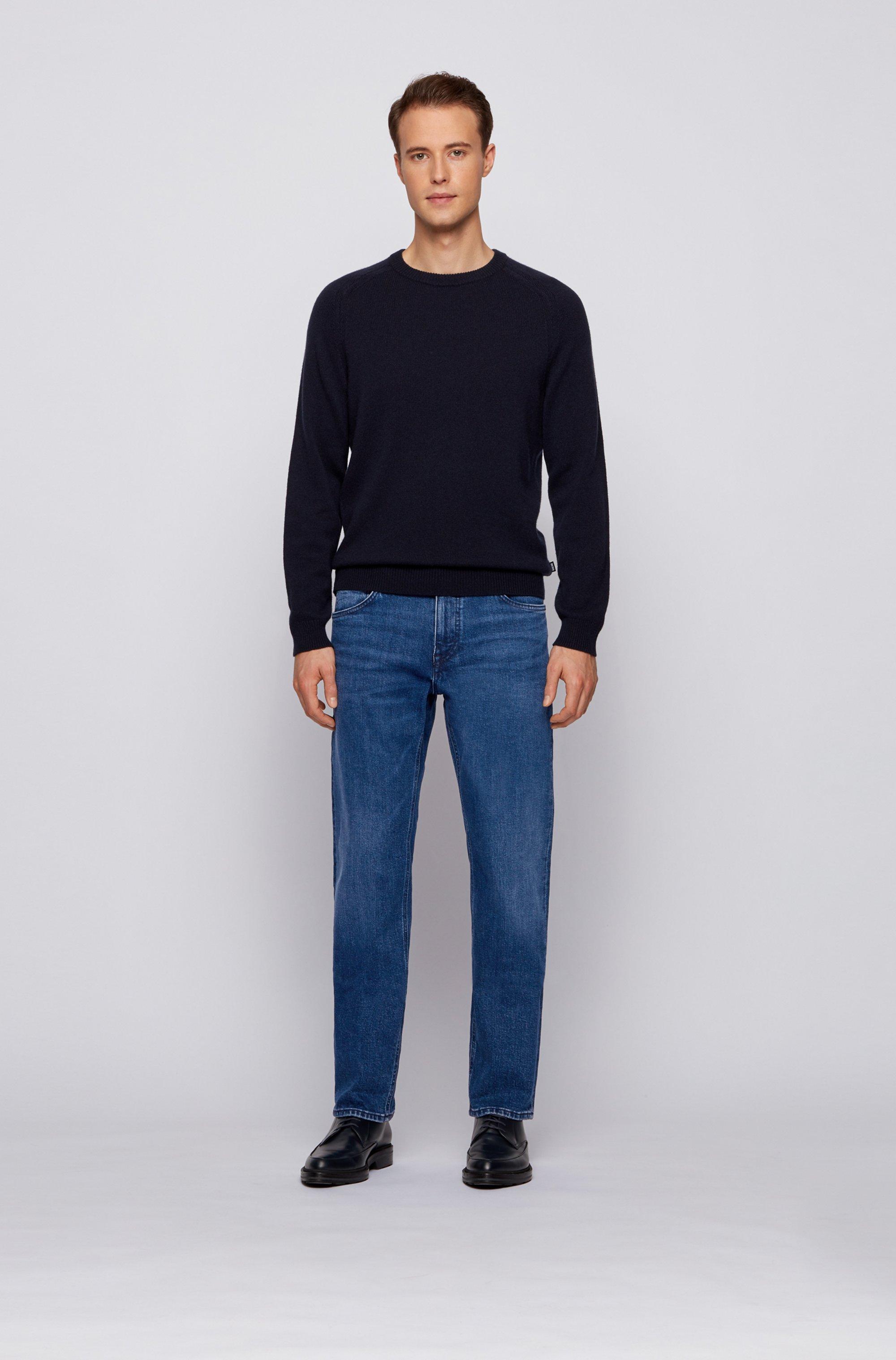 Regular-fit jeans in blue comfort-stretch denim