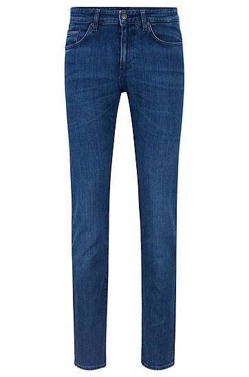蓝色意大利弹力牛仔布修身牛仔裤,  417_海军蓝色