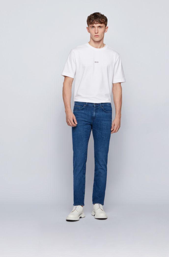 Slim-fit jeans in blue Italian stretch denim