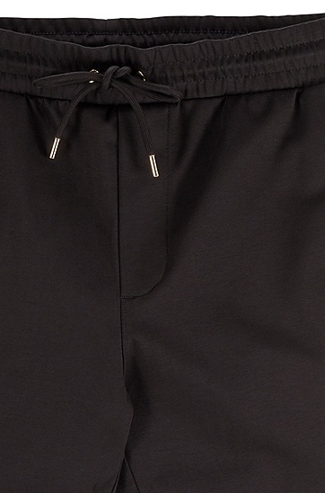 男士休闲抽绳长裤,  001_黑色