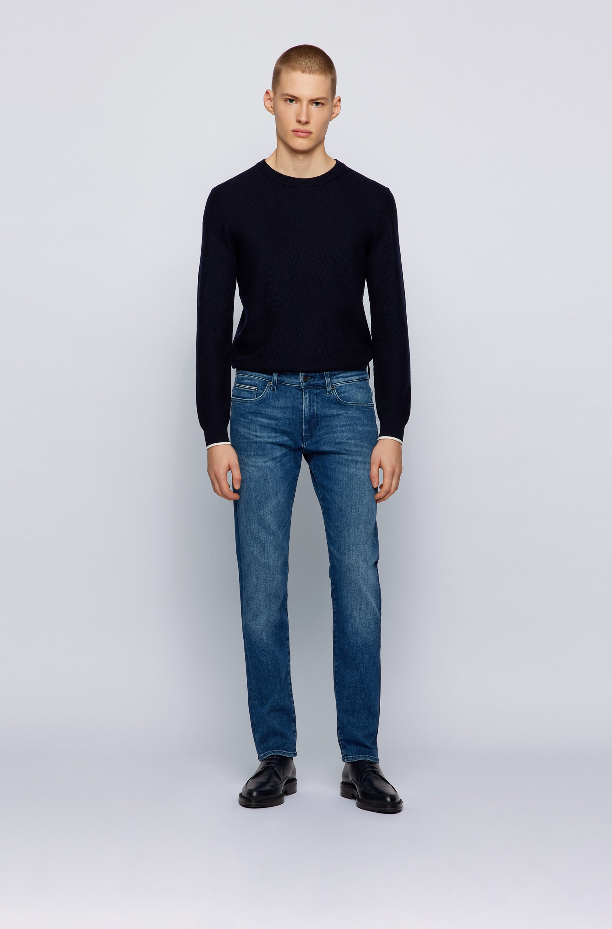 Slim-fit jeans in blue super-stretch denim