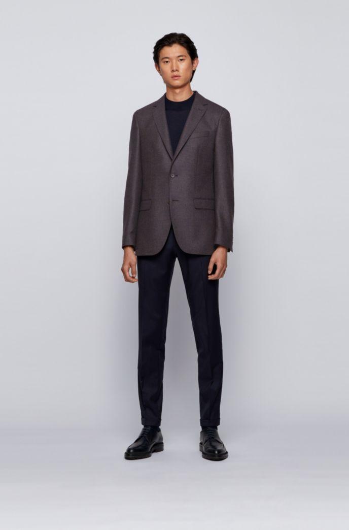 Slim-fit jacket in wool-blend bouclé