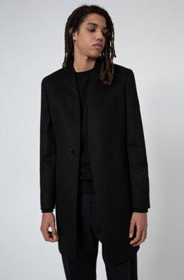 Extra-slim-fit jacket in a virgin-wool blend, Black