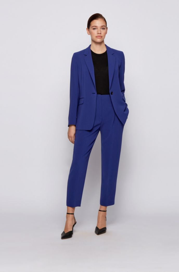 Cropped regular-fit trousers in Japanese stretch crepe