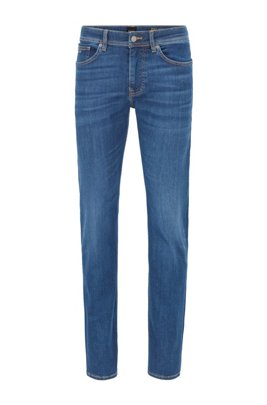 Slim-Fit Jeans aus Super-Stretch-Denim, Dunkelblau