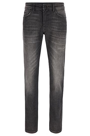 超弹水洗黑色修身牛仔裤,  025_暗灰色