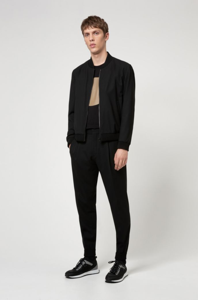 Cuffed extra-slim-fit trousers in super-flex fabric