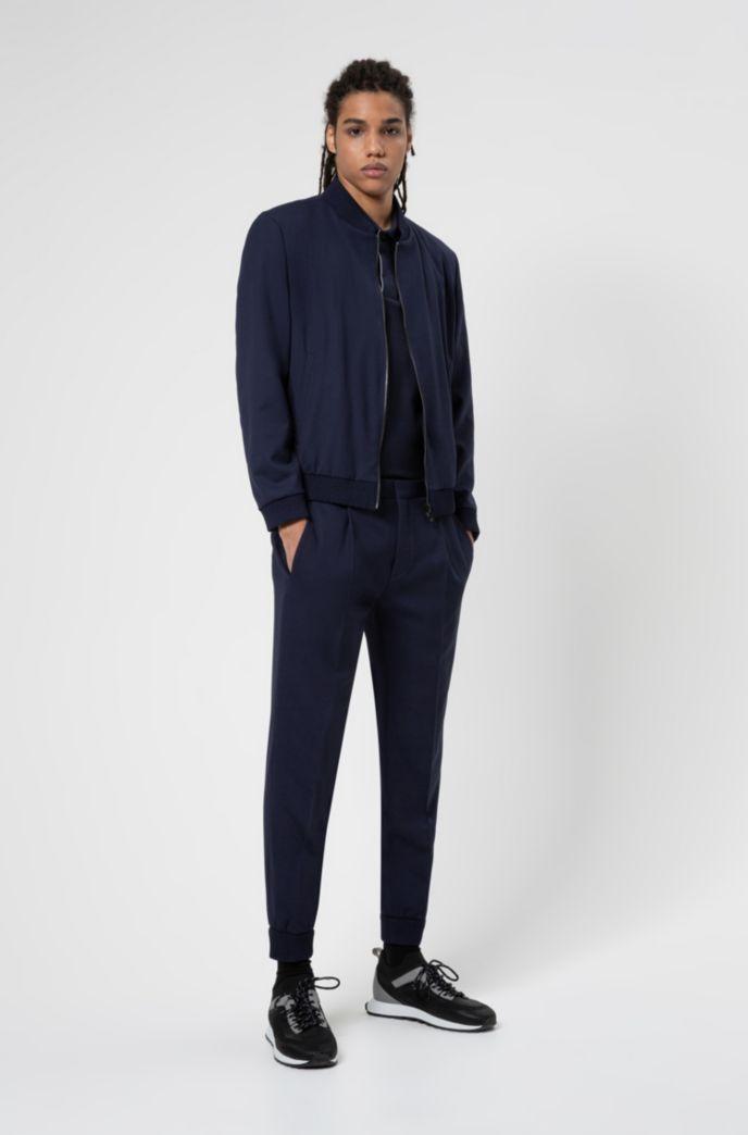 Cuffed extra-slim-fit trousers in super-flex fabric