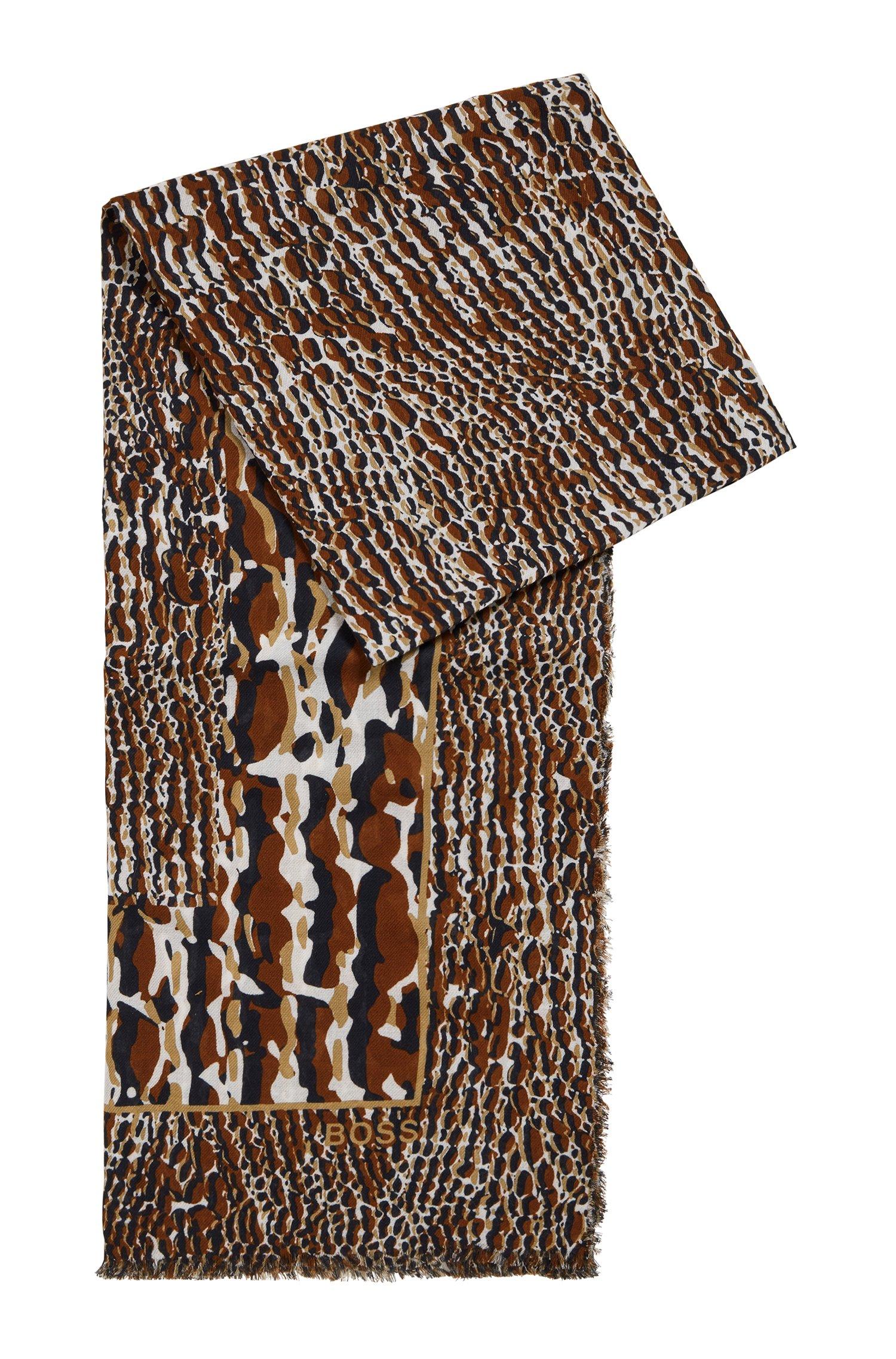Foulard en coton et modal à imprimé de la saison, Fantaisie