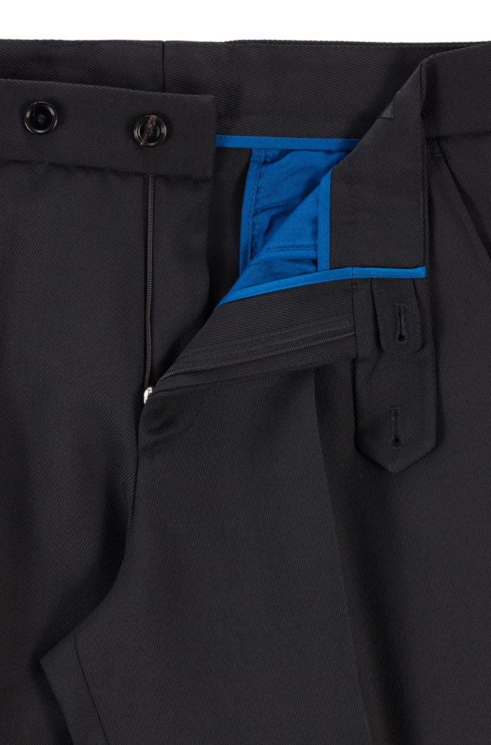 Oversized-fit trousers in micro-structured fabric
