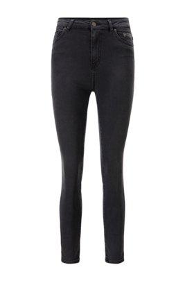 Skinny-fit jeans in mid-grey power-stretch denim, Dark Grey
