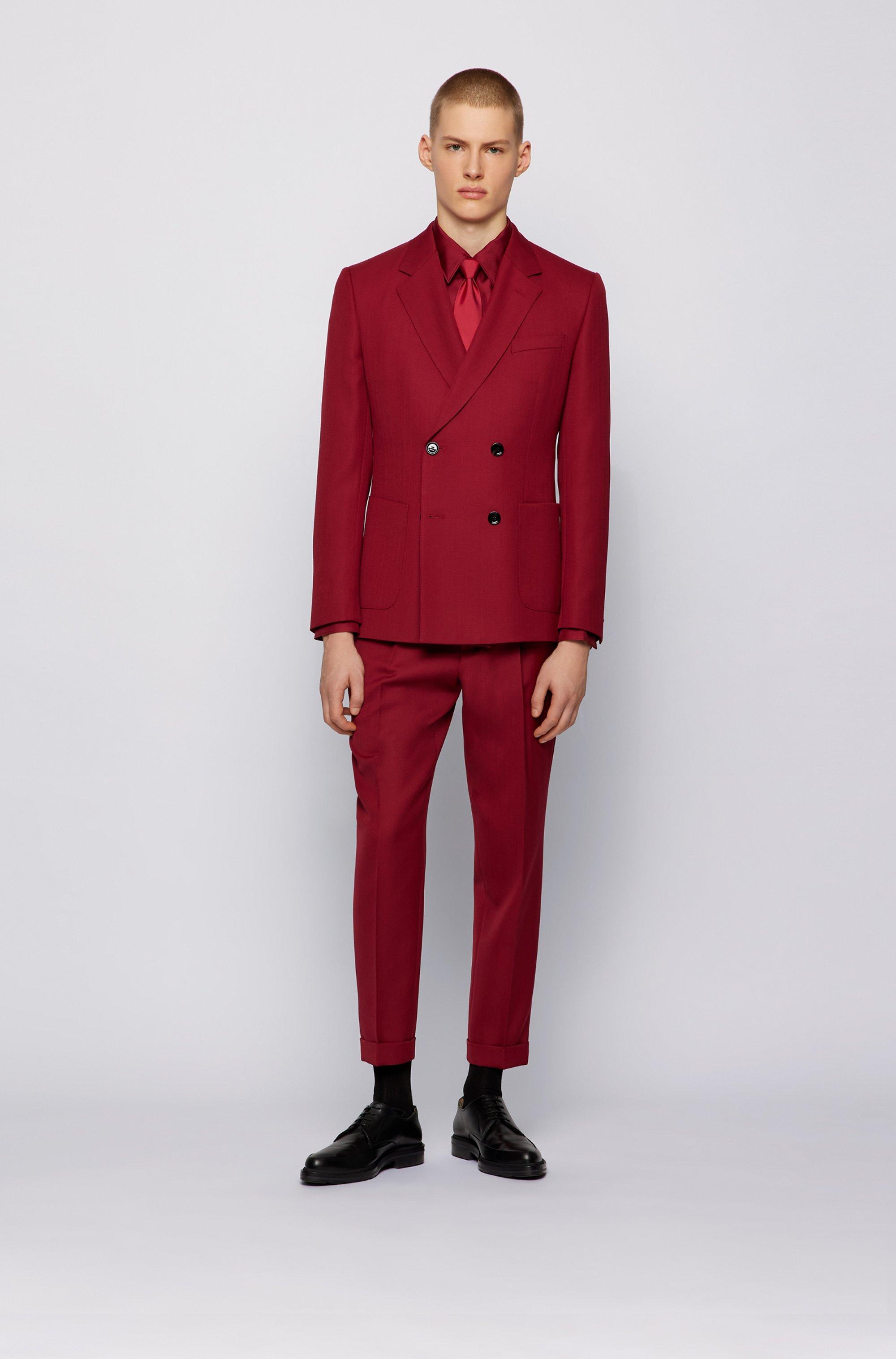 Slim-fit shirt in Italian silk twill