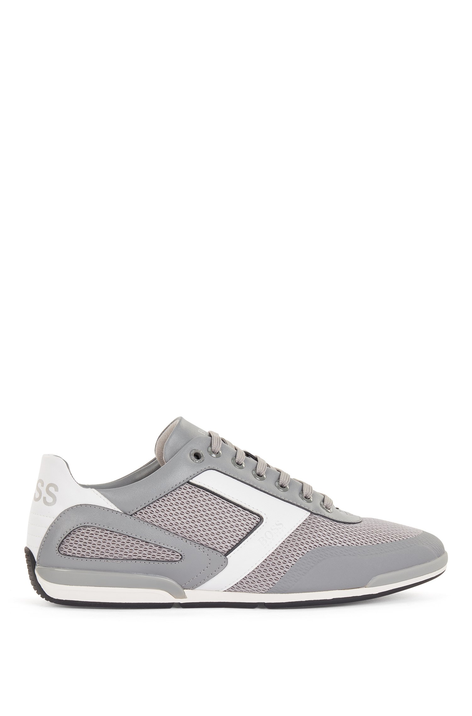 Hybrid trainers with reflective details and backtab logo, Grey