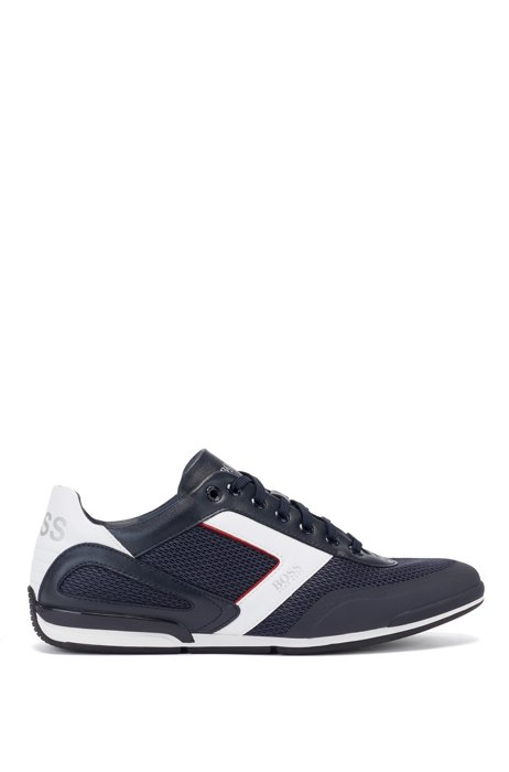 Hybrid trainers with reflective details and backtab logo, Dark Blue