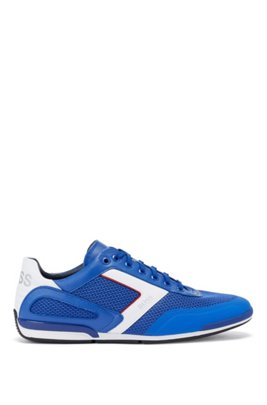 Hybrid trainers with reflective details and backtab logo, Blue