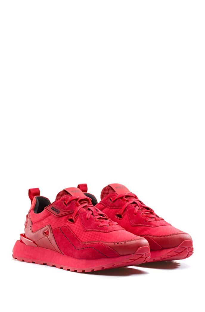 Sneakers aus Hybrid-Gewebe mit Innenfutter aus Bambus-Mix