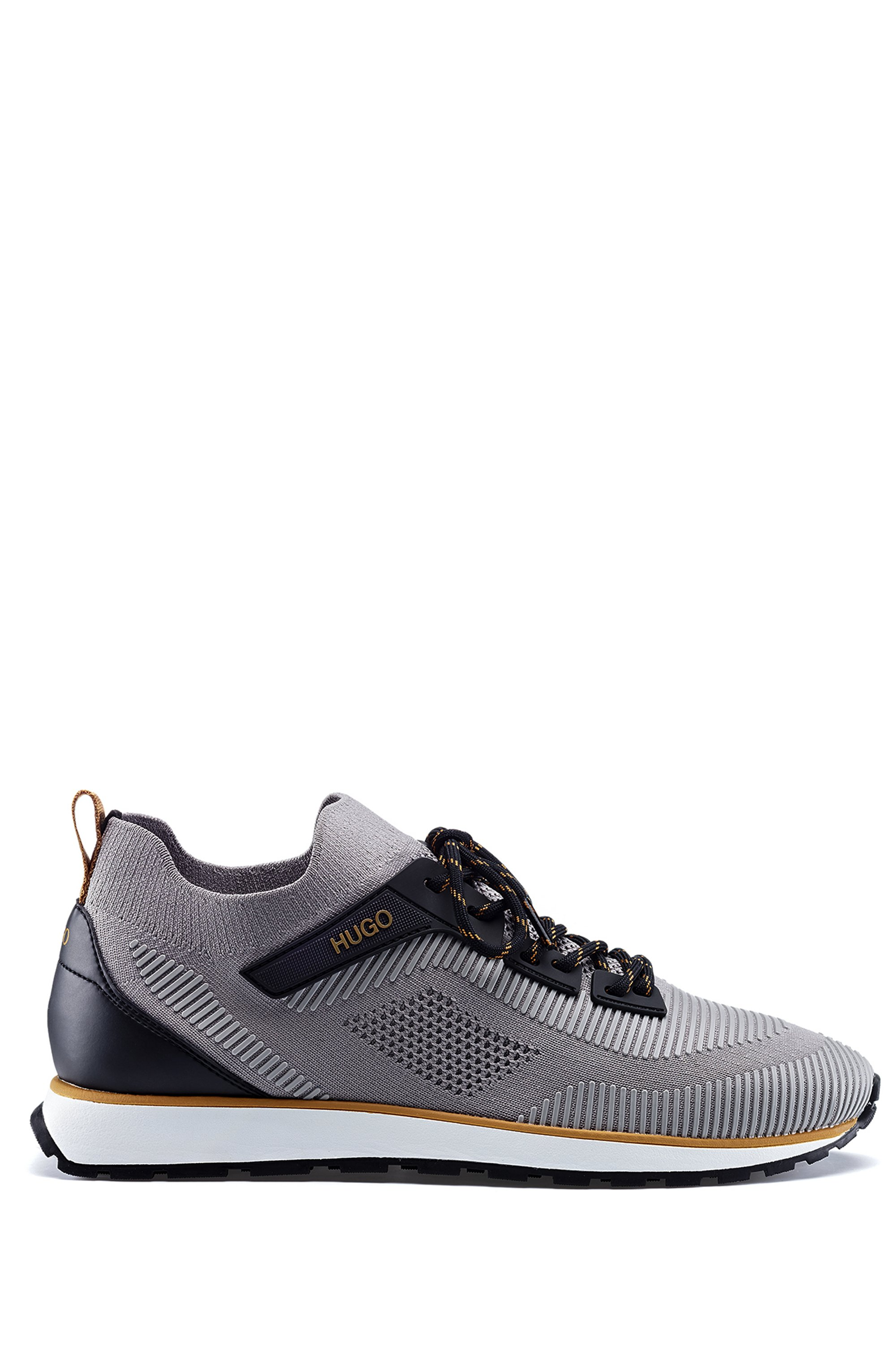Lace-up sock trainers with EVA-rubber sole, Grey