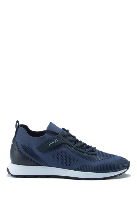 Lace-up sock trainers with EVA-rubber sole, Blue