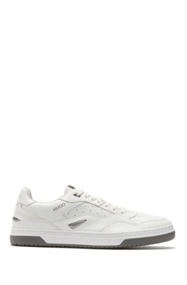 Skate-inspired trainers with bonded-leather uppers, White
