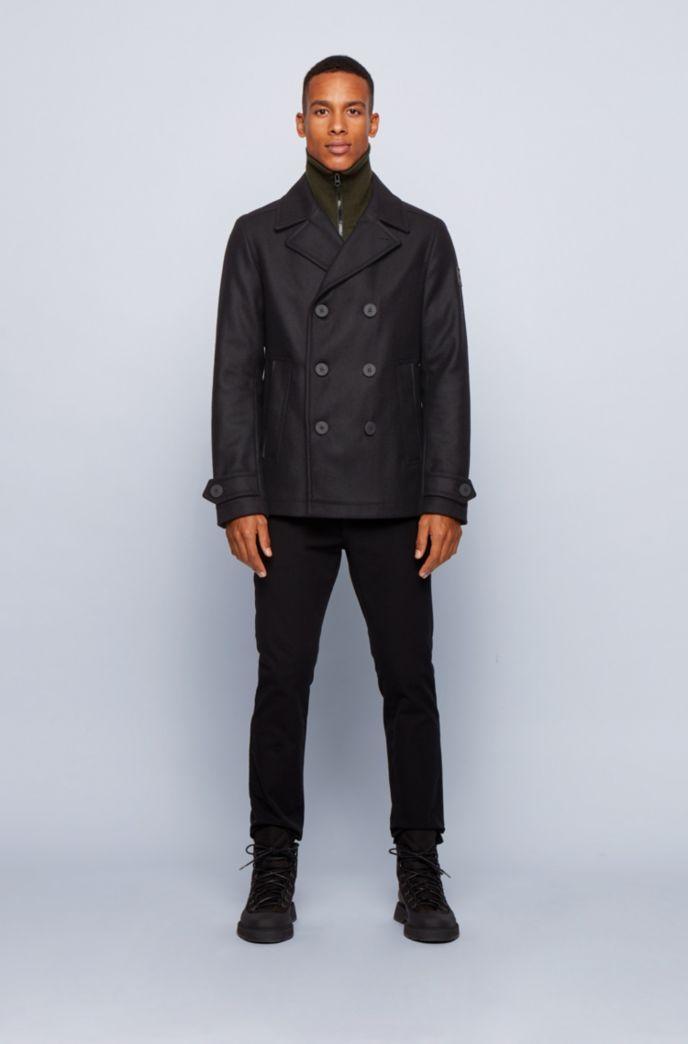 Slim-fit coat in an Italian wool blend