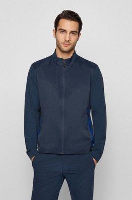 Wasserabweisende Regular-Fit Jacke mit Logo-Artwork, Dunkelblau