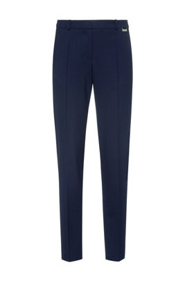 Regular-fit trousers in a stretch virgin-wool blend, Light Blue