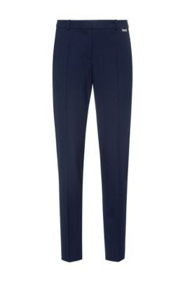 Regular-fit trousers in a stretch virgin-wool blend, Light Blue