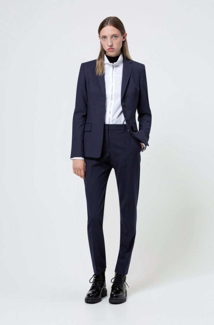 Regular-fit trousers in a stretch virgin-wool blend