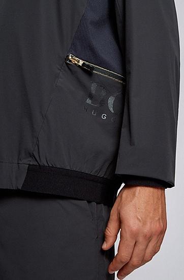 标准款休闲拉链口袋长袖,  001_黑色