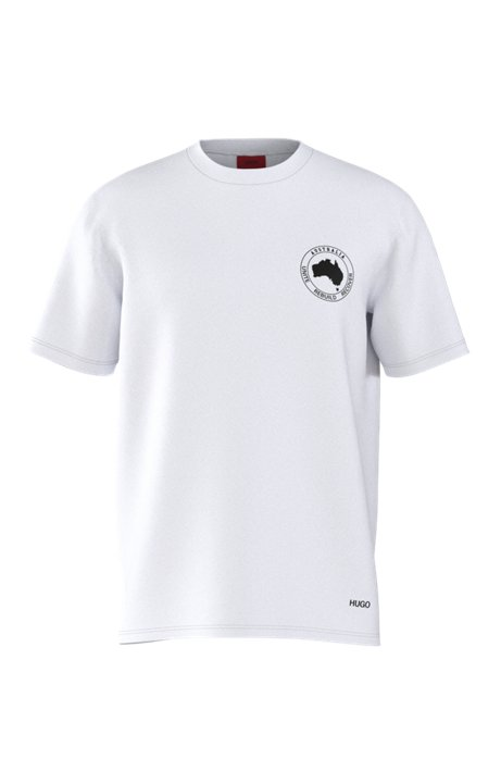 Australia-print T-shirt for bushfire relief, White
